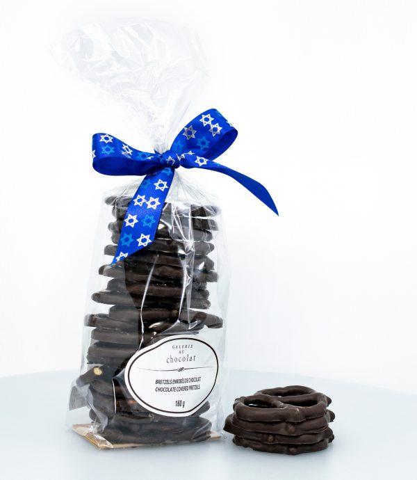 Pareve Dark Chocolate Covered Pretzels 160g
