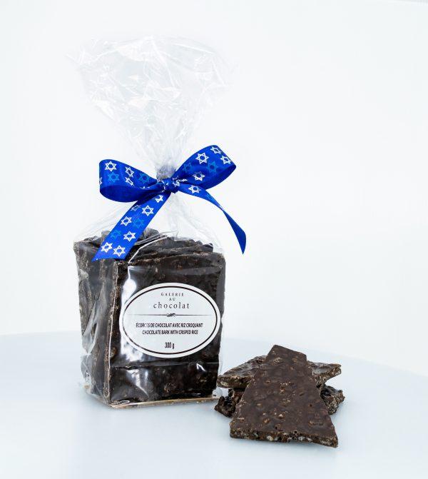 Pareve Dark Chocolate Bark with Crisped Rice 300g
