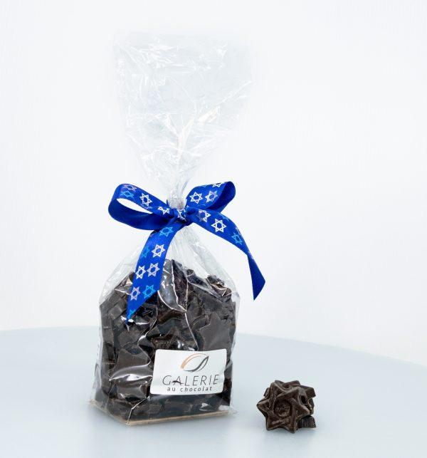 Pareve Pure Dark Chocolate Small Magen David Stars 200g
