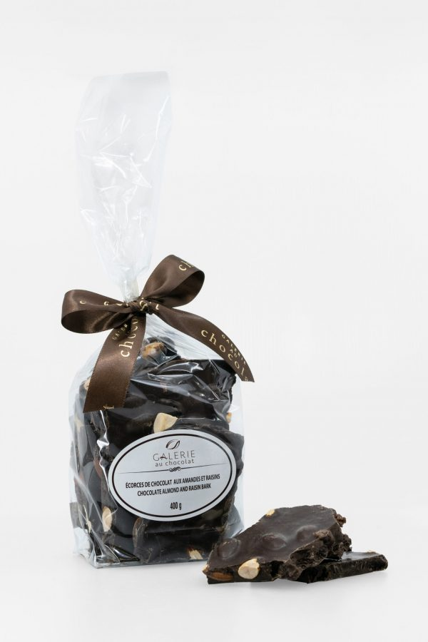 Dark Chocolate Almond Raisin Bark 400g