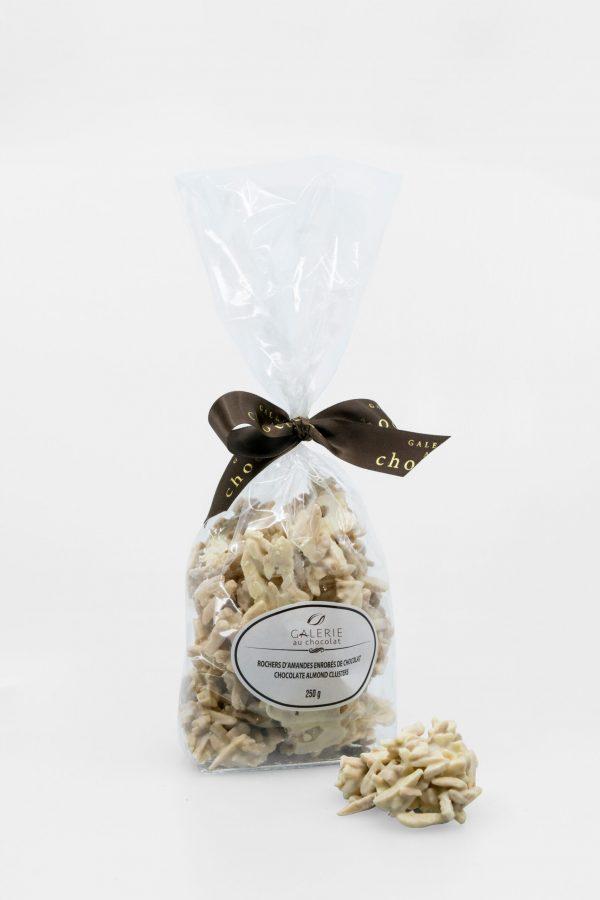 Rochers d'Amandes Enrobés de Chocolat Blanc 250g