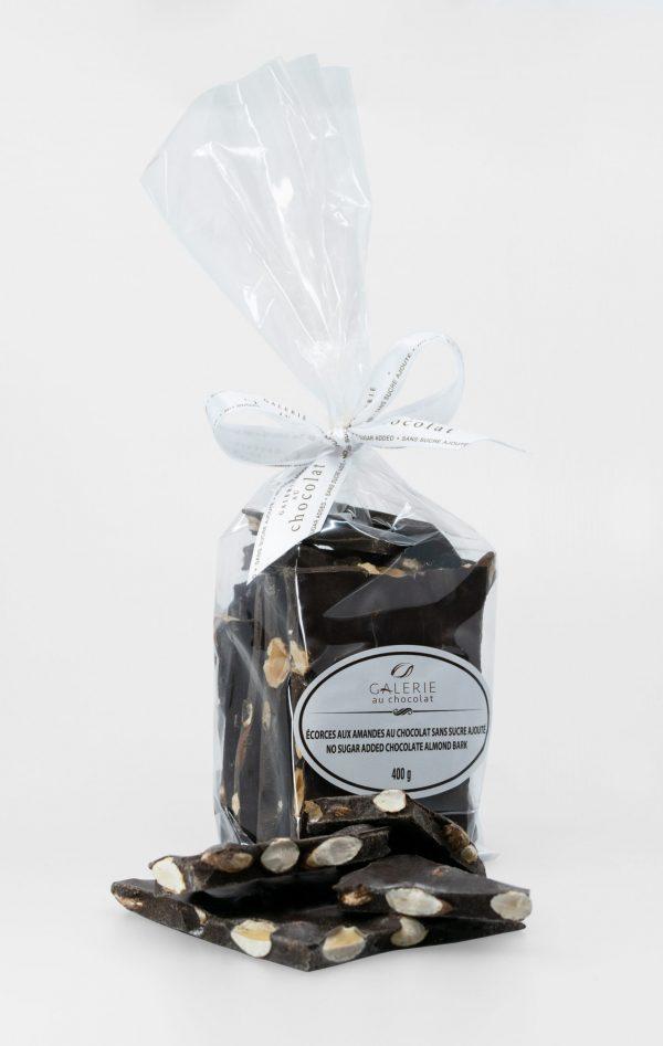 No Sugar Added Dark Chocolate Almond Bark 400g