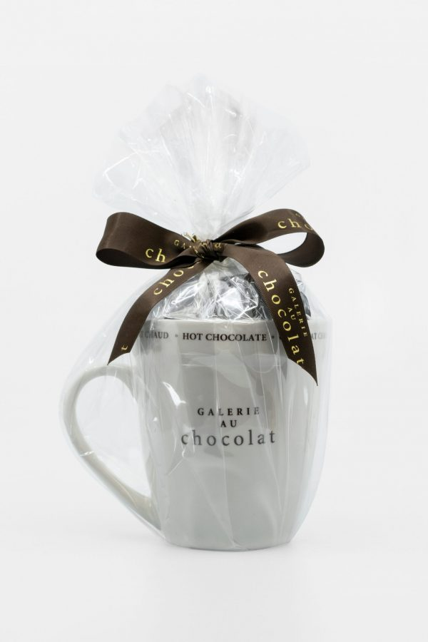 Dark Chocolate Old Fashioned Hot Chocolate with Mug - Galerie au Chocolat