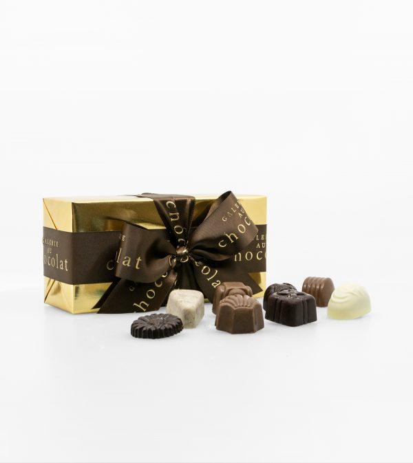 Boîte-cadeau Signature de chocolats assortis – 200g
