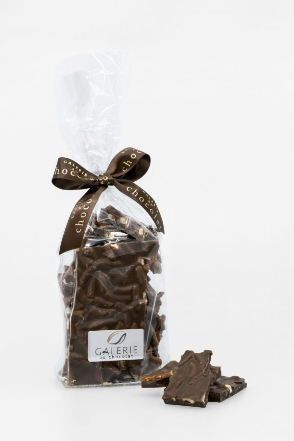 Dark Chocolate Caramel Pretzel Bark 400g