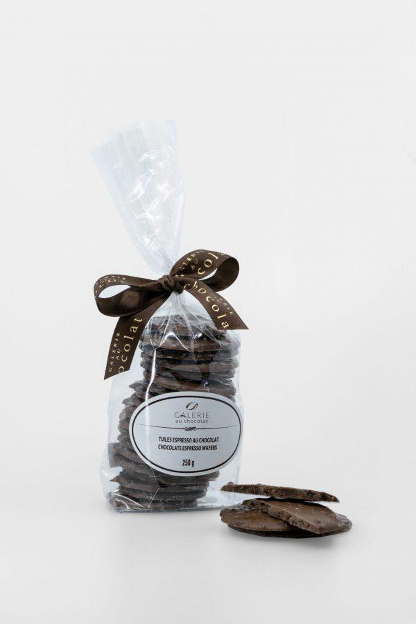 Tuiles Espresso au Chocolat au Lait 250g