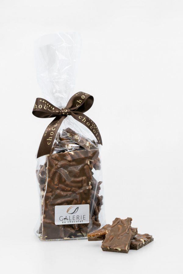 Écorces de Chocolat au Lait au Caramel et Bretzels 400g