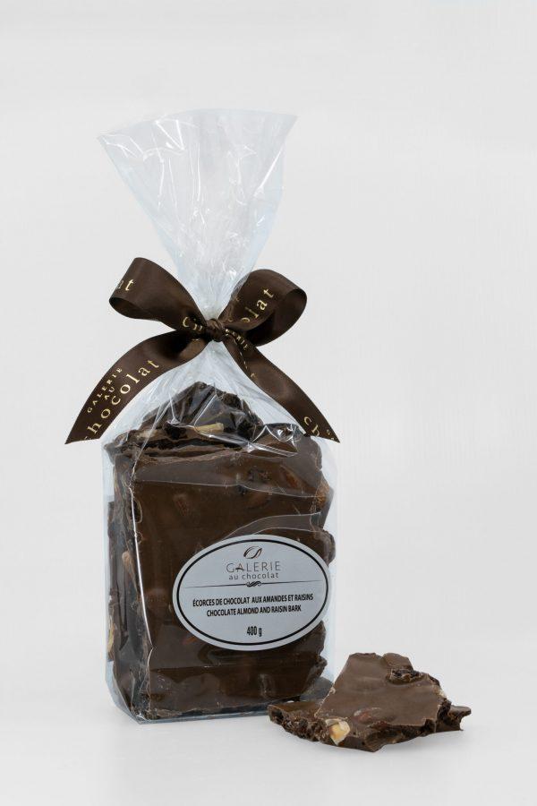 Écorces de Chocolat au Lait aux Amandes et Raisins 400g
