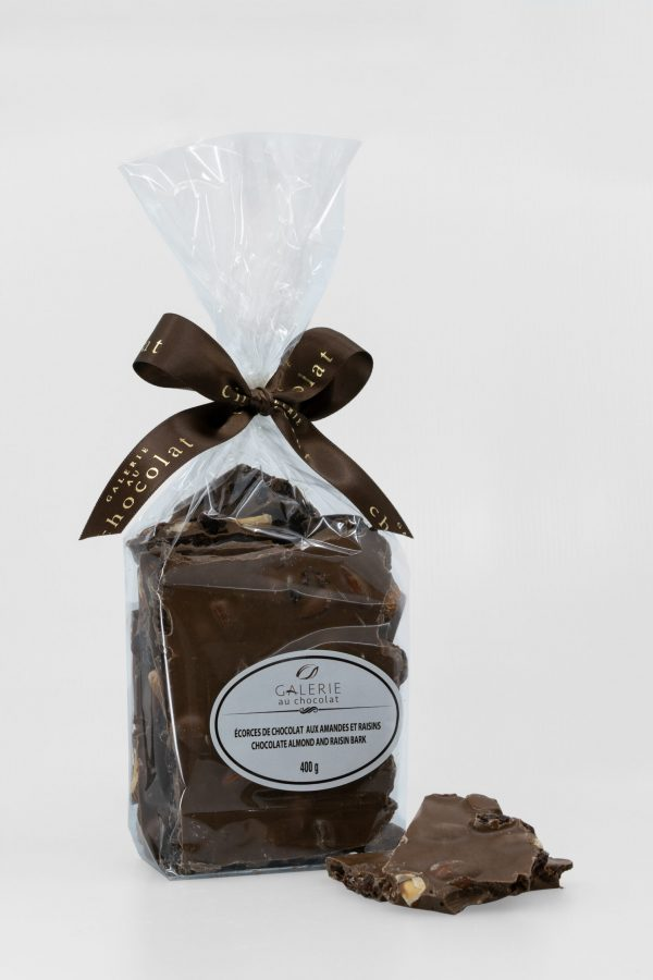 Milk Chocolate Almond Raisin Bark 400g