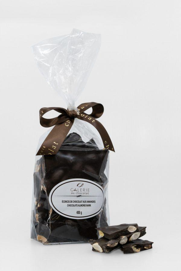 Dark Chocolate Almond Bark 400g
