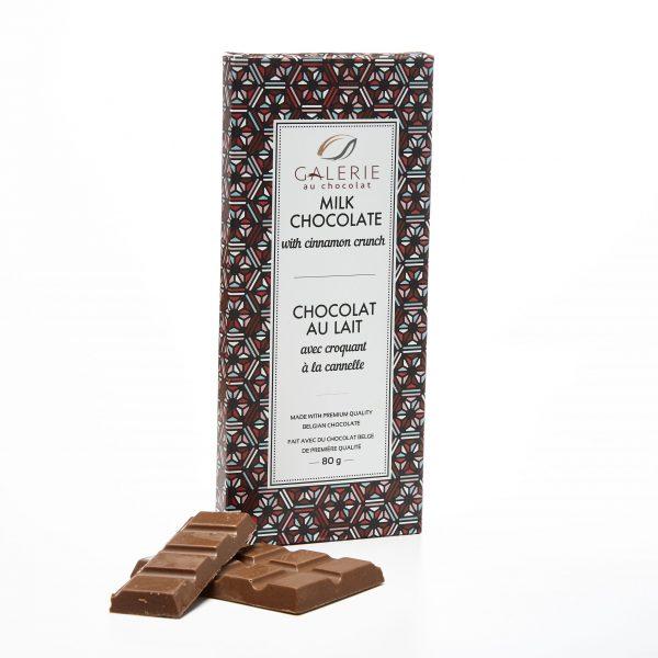 Chocolat au Lait avec Croquant à la Cannelle