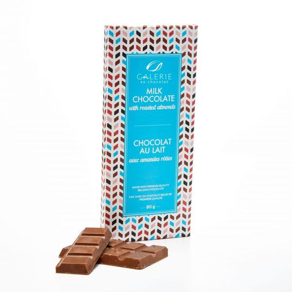 Chocolat au Lait avec Amandes Rôties