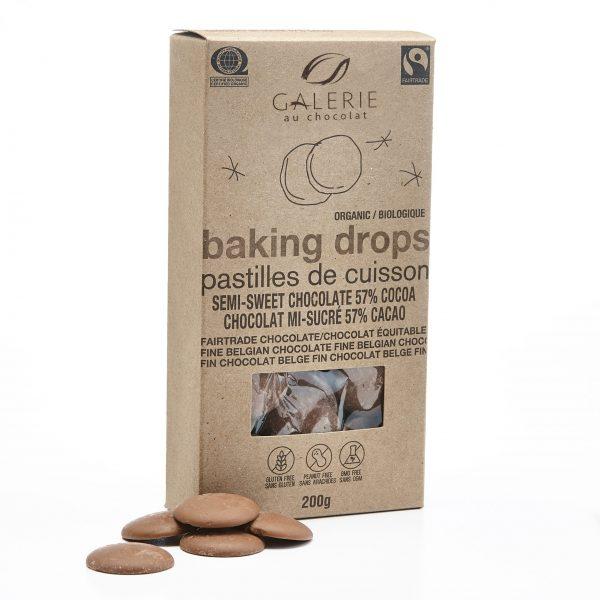 Fairtrade - Pastilles De Cuisson au Chocolat Mi-Sucré 57%