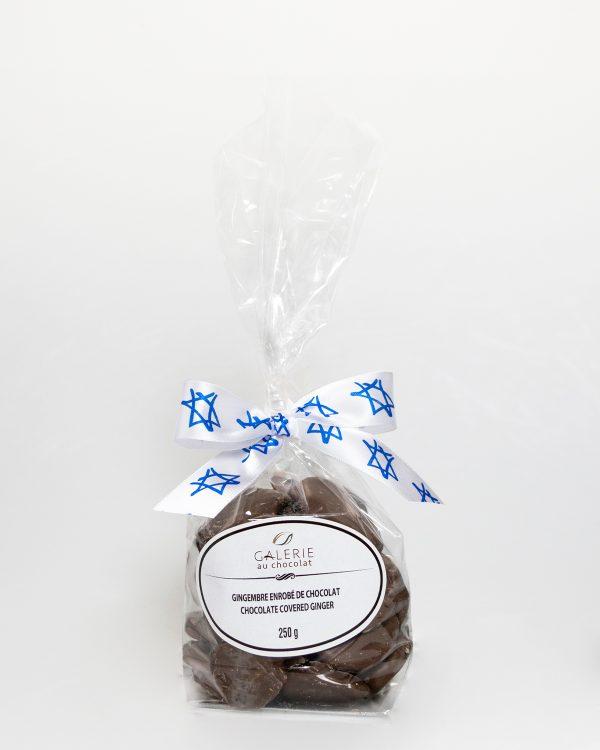 Produit Laitier Casher Gingembre au Chocolat au Lait 250g