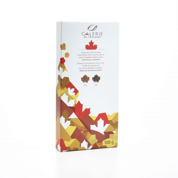 Milk and Dark Chocolate Canadiana Maple Leaves Box 108g