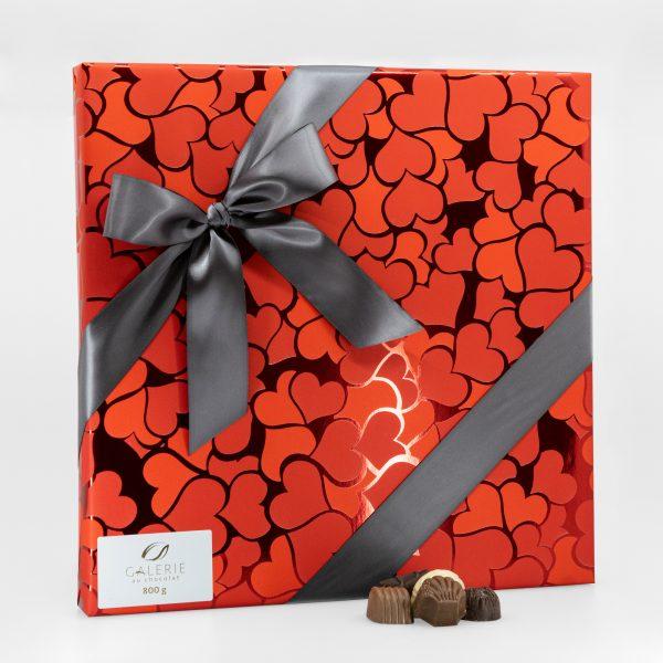 Boîte-Cadeau Signature de Chocolats Assortis – Saint-Valentin – 800g