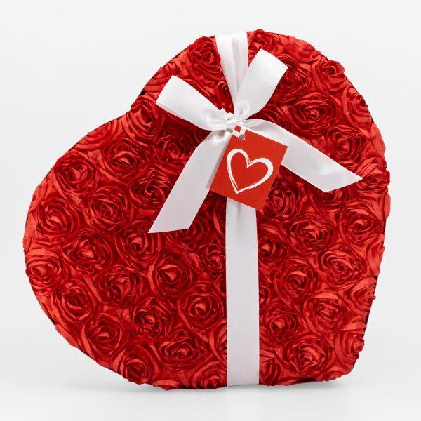 Boîte-Cadeau Coeur de Caramels Assortis au Chocolat – Saint-Valentin – 450g