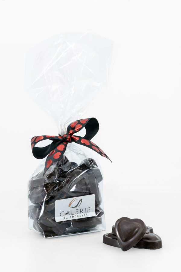 Coeurs Chocolat Noir – Saint-Valentin – 200g