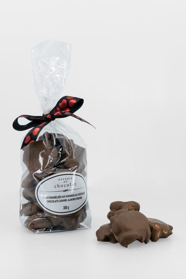 Rêves Caramélisés aux Amandes au Chocolat au Lait – Saint-Valentin – 300g