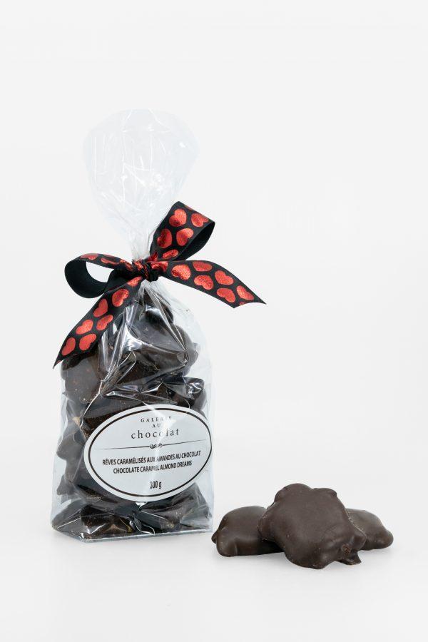 Rêves Caramélisés aux Amandes au Chocolat Noir – Saint-Valentin – 300g