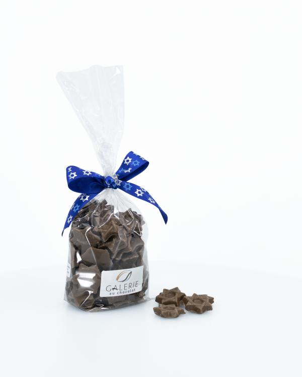 Produit Laitier Casher Étoiles Magen David au Chocolat au Lait Pur 200g