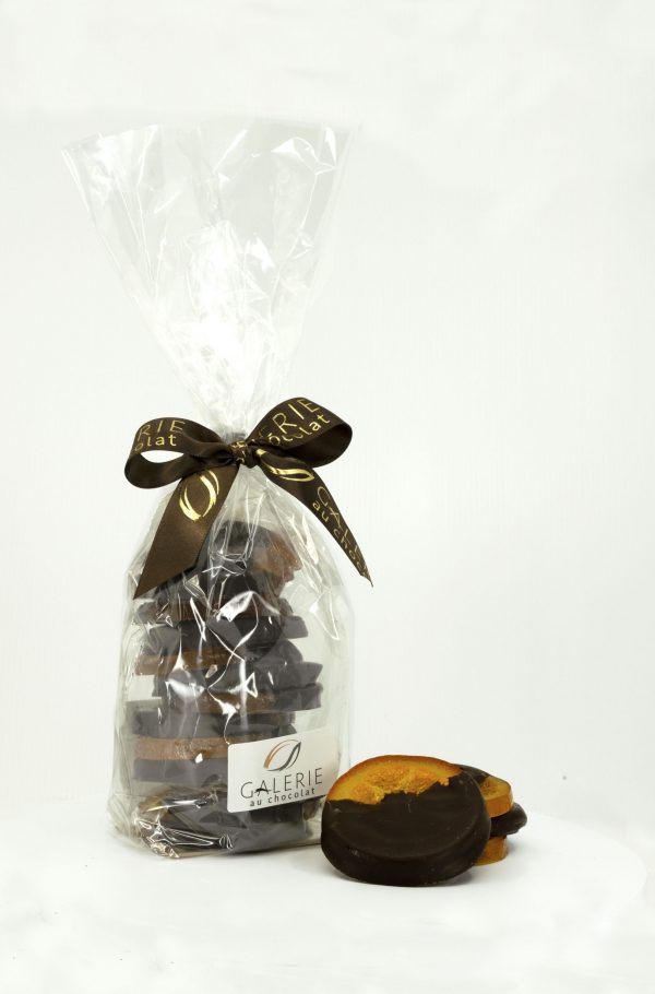 Dark Chocolate Dipped Glazed Orange Slices - 350g