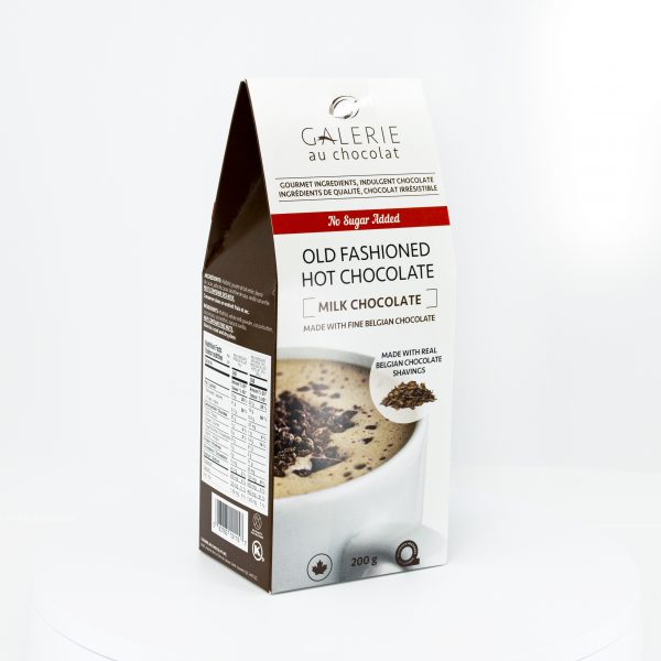 No Sugar Added Milk Old Fashioned Hot Chocolate