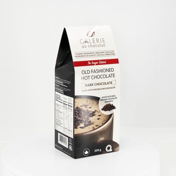 No Sugar Added Dark Old Fashioned Hot Chocolate