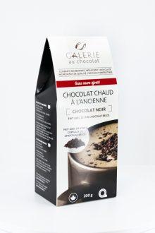 Chocolat Chaud Noir à l'Ancienne Sans Sucre Ajouté
