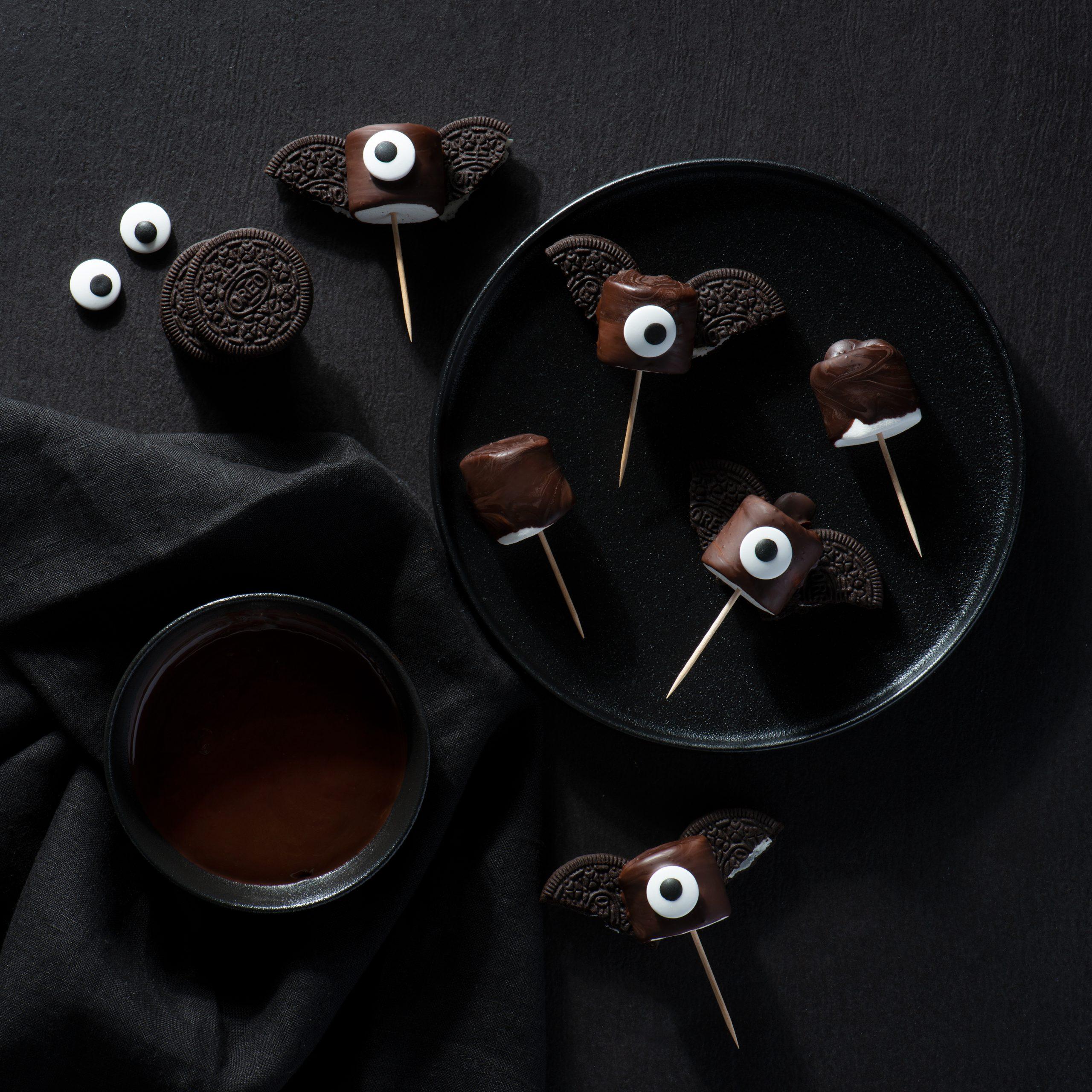 Chauve-Souris en Guimauves recouvertes de Chocolat